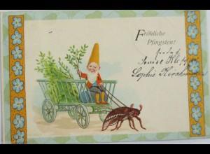 Pfingsten, Maikäfer, Zwerg, Wagen, 1904 ♥ (6594)