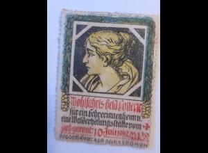 Vignetten,Geldlotterie für Lehrerinnenheim eine Walderholungsstädte,1912♥(60760)