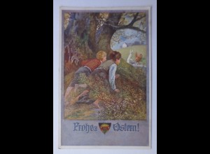 Deutscher Schulverein, Ostern, Kinder, Hase, 1918, Nr.573 ♥ (60343)