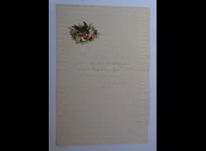 Briefpapier Mit Oblate aus dem Jahr 1892, Ungebraucht ♥ (10K)
