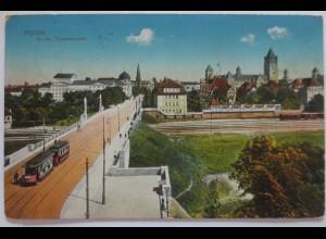 Posen, An der Theaterbrücke, Feldpost 1915