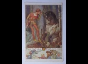 """""""Deutscher Schulverein, Das Tapfere Schneiderlein"""" 1917, Karten Nr.591♥"""