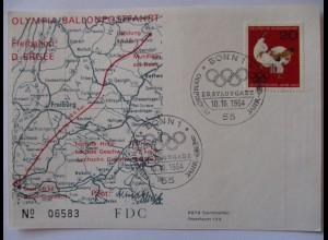 Olympia, Winterspiele Innsbruck 1964, Ballonpost