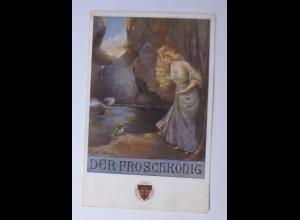 """""""Deutscher Schulverein, Märchen, Der Fröschkönig"""" 1910, Karten Nr.58 ♥ (60358)"""