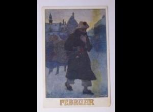 Deutscher Schulverein, Monate, Februar, 1921, Karten Nr.1272 ♥ (60376)