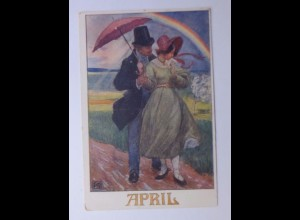 Deutscher Schulverein, Monate, April, 1921, Karten Nr.1274 ♥ (60375)