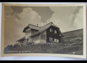Berghütte Pöllinger Hütte auf der Görlitzen Fotokarte Hüttenstempel 1935