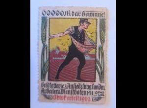 Vignetten, Geldlotterie Arbeiter und Dienstboten, Oktoberfest 1912 ♥ (12348)