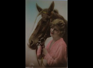 """""""Frauen, Pferde"""" 1923, Serie Lee 149 ♥ (5510)"""