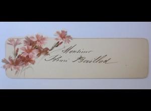 Tischkärtchen, Blumen, 1900, 12,5 cm x 4 cm ♥ (28507)