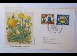 Ersttagsbrief Märchen Der Froschkönig 1966 Darme ♥ (5227)