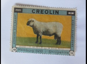 Vignetten, Creolin gegen Schafräude, Hamburg 1910 Shropshire ♥ (5125)