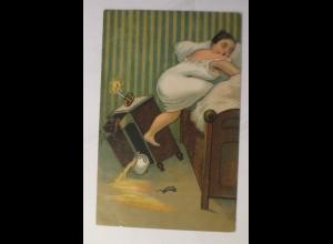 Scherzkarte, Frauen, Mode, Kerzen, Töpfchen, 1930 ♥ (16344)