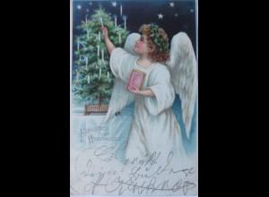 Neujahr, Engel, Kerzen, 1901 ♥ (10176)