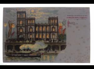 """""""Paris, Le Pavillon Royal Espagne""""1905, Halt gegen das Licht, Meteor♥ (32593)"""