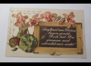 Freundschaft, Blumen, Spruch, Tafel, 1900 ♥ (69299)