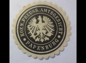 Vignetten Siegelmarke, Koen. Preuss. Amtsgericht Papenburg ♥ (5550)