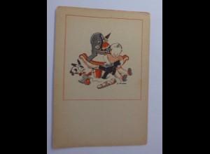 Kinder, Kinder, Teddy, Spielzeug, 1945, G. Scheufler ♥ (53705)