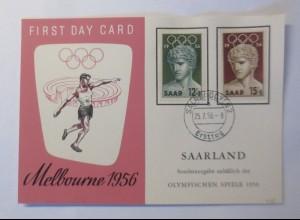 Maximumkarte Melbourne Saarland 1956 Olympische Spiele Diskuswerfer ♥