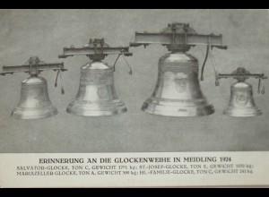 Österreich, Wien, Glockenweihe in Meidling 1924, Sonderkarte (19239)