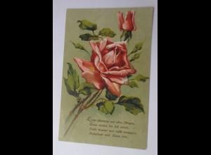 Blumen, Rosen, Spruch, 1918 ♥ (45848)