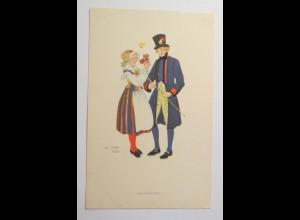 Frauen, Männer, Trachten, Blumen, 1930, Aina Stenberg ♥ (30200)
