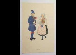 Frauen, Trachten, Blumen, 1930, Aina Stenberg ♥ (30206)