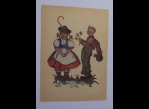 Kinder, Kinder, Trachten, Blumen, 1940, M. Dietzius, Hansadruckerei ♥ (53706)