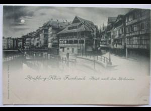 Straßburg im Elsaß, Klein Frankreich mit Gerbereien ca. 1900