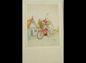 Weihnachten, Kinder, Fahrrad, Blume, 1930, sig. CK ♥ (22800)