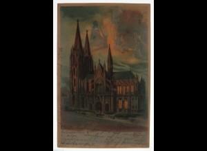 """""""Köln, Die Grundsteinstellung des Dom"""" Halt gegen das Licht, Meteor♥ (32617)"""