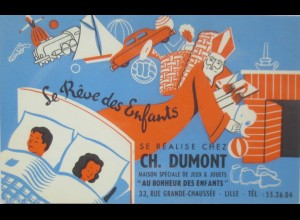 """""""Reklame, Ch. Dumont, Se Realise Chez, Spielzeug, Nikolaus"""" ca.1920 ♥"""