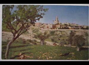 Jerusalem, südwestliche Vorstadt mit Deutschem Mariendom ca. 1920