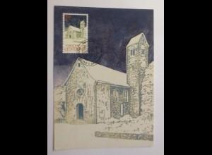 Maximumkarte Weihnachten Kirche 1992 ♥
