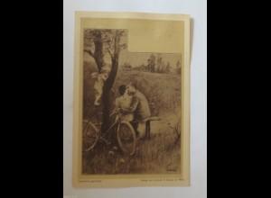 """""""Fahrrad, Frauen, Männer, Amor, Engel"""" 1900, Gerlach & Schenk in Wien ♥ (31399)"""
