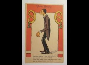 Neujahr, Scherzkarte, Männer, 1930 ♥ (15657)