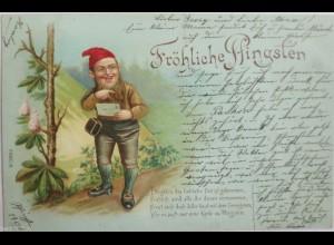 Pfingsten, Zwerge, Flieder, 1900 ♥ (6459)