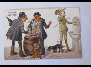 """""""Dackel, Hund, Alkohol, Bier"""" 1920 ♥ (30675)"""