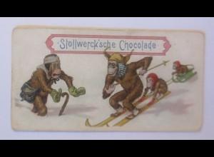 Stollwerck, Gruppe 187, Nr.4, Album Nr. 4, Affen, Ski, ♥