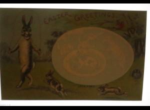 Ostern, Osterhase, Seilspringen, 1920, Halt gegen das Licht (24503)