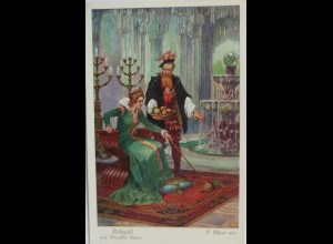 Märchen 1905, Rübezahl u. Prinzessin Emma, sig. F. Elßner ♥ (3711)