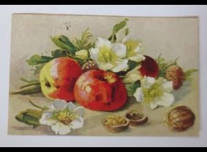 Apfel, Nuss, Blumen, 1924 ♥ (69667)
