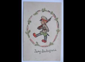 Jung Deutschland, handgemalte Karte Fritz Schachinger München (65101)