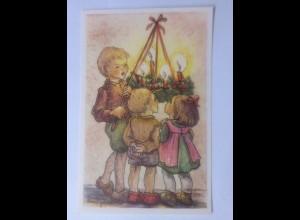Sammelbild, Weihnachten, Kinder, Advent, 10,5 cm x 6,5 cm 1950 ♥ (62260)