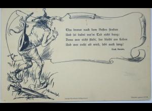 """""""Till Eulenspiegel, Spruch"""" ca.1900, sig. J. Kleinmichel♥ (13995)"""