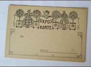 """Tischkarte, Biedermeier, Frauen, Engel"" 1900 ♥ (11116)"