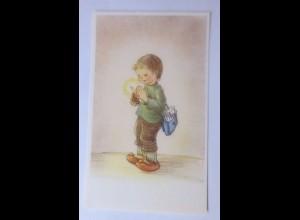 Sammelbild, Weihnachten, Kinder, Kerze, 10,5 cm x 6,5 cm, 1950 ♥ (62261)