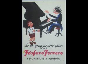 """Fosforo Ferrero, Klavier, Konzert, Artisten"" ca.1920 ♥"