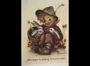 Weihnachten,Kinder, Hase, 1939, Hummel ♥ (15534)