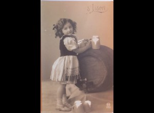 """Kinder, Fass, Bierkrug"" 1905, Serie 593/1 ♥ (3301)"